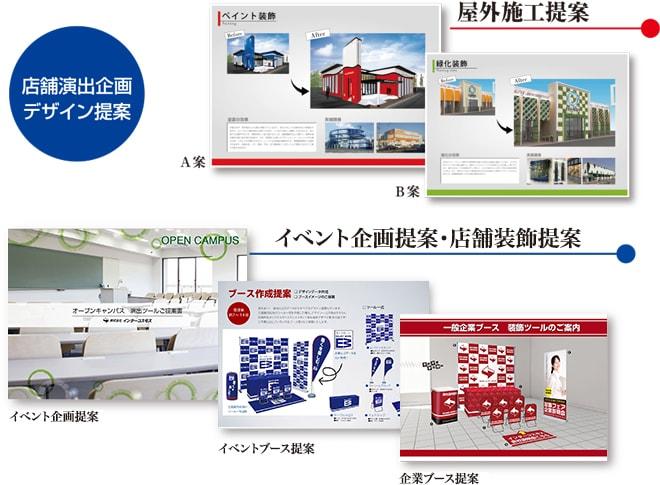 店舗演出企画 デザイン提案資料のイメージ